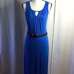 CYNTHIA ROWLEY Royal Blue Maxi Dress Size Med